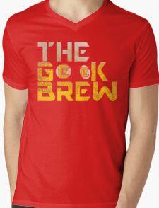 The Geek Brew Retro Logo Mens V-Neck T-Shirt