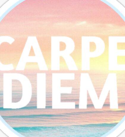 Beach Sunset Carpe Diem Sticker