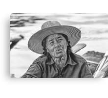 Thai Old Woman Canvas Print