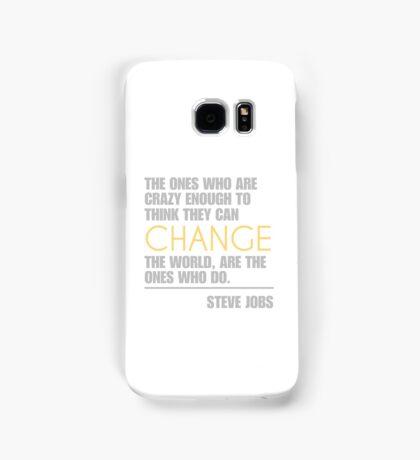 Change the world - Steve Jobs Samsung Galaxy Case/Skin