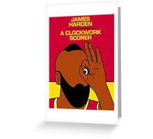 James Harden (A Clockwork Scorer) Greeting Card