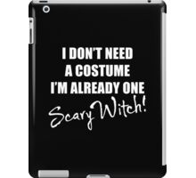 One Scary Witch - White iPad Case/Skin