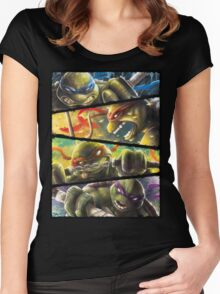 TMNT - Turtle Power Women's Fitted Scoop T-Shirt