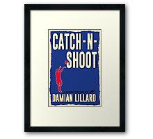 Catch-N-Shoot (Damian Lillard) Framed Print