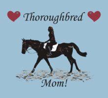 Cute Thoroughbred Mom Horse Design Kids Tee