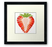 Strawberry Secret Framed Print