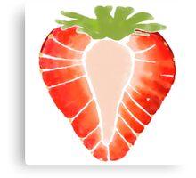 Strawberry Secret Canvas Print