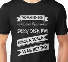 Tesla's Better - Plain Light Unisex T-Shirt