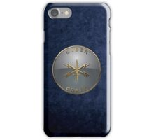 U.S. Army Cyber Corps - Branch Insignia Blue Velvet iPhone Case/Skin