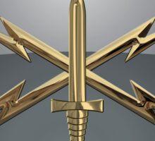 U.S. Army Cyber Corps - Branch Insignia Blue Velvet Sticker