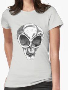 Alien Skull  Womens Fitted T-Shirt