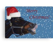 Funny Christmas Pony  Canvas Print
