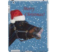Funny Christmas Pony  iPad Case/Skin