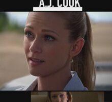 AJ Cook- Season 9 Sticker