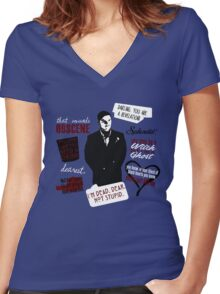 Mr. March Women's Fitted V-Neck T-Shirt