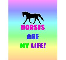 Colorful Horses Are My Life  Photographic Print