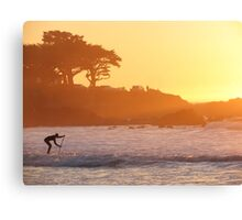 A Sunset Paddle Canvas Print