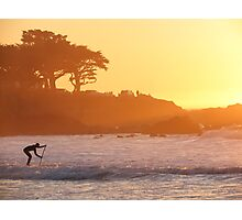 A Sunset Paddle Photographic Print