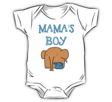 mama's boy kid t-shirt, mummy's boy baby t-shirt, baby one-pieces One Piece - Short Sleeve