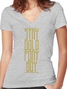STAY GOLD PONYBOY Women's Fitted V-Neck T-Shirt