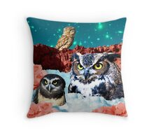 Kindly Owl Gods of the Red Mesa Throw Pillow