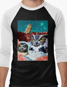 Kindly Owl Gods of the Red Mesa Men's Baseball ¾ T-Shirt
