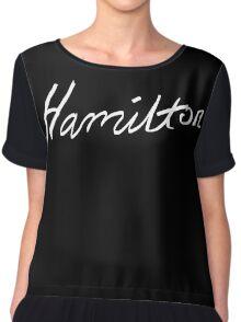 Alexander Hamilton Broadway Musical : Cursive Script Chiffon Top