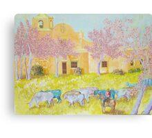 Blue Cattle Canvas Print