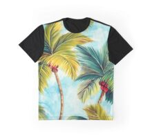 Tropical Palm Trees Graphic T-Shirt