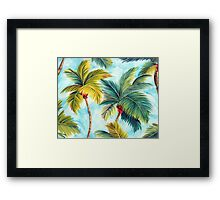 Tropical Palm Trees Framed Print