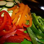 Mixed Peppers And Courgettes by Fara