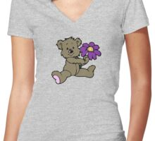 Teddy Women's Fitted V-Neck T-Shirt