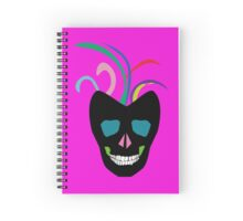 Funky Bright Sugar Skull Spiral Notebook