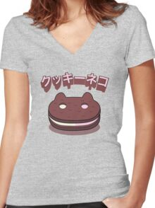 Steven Universe - Cookie Cat (Japanese) Women's Fitted V-Neck T-Shirt