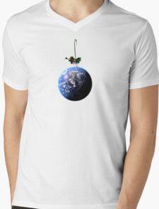 Christmas World Mens V-Neck T-Shirt