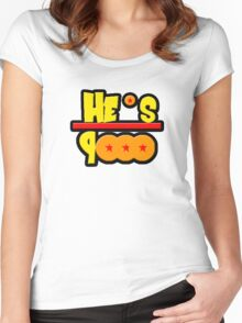 He's over 9000 Math equation Women's Fitted Scoop T-Shirt