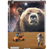 Enormous Bear Interrupts Charity Golf Tournament  iPad Case/Skin