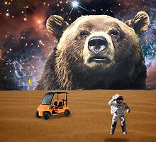 Enormous Bear Interrupts Charity Golf Tournament  by dogmycat
