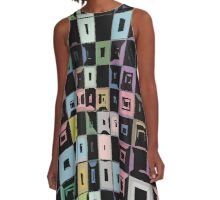 Ordered Chaos Digital Abstract A-Line Dress