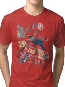 Flowers & Tui - Grey Tri-blend T-Shirt