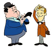 Laurel & Hardy Photographic Print