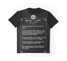 Death Note Rules Page 1 Graphic T-Shirt