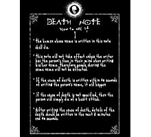 Death Note Rules Page 1 Photographic Print