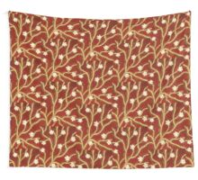 Red with Flowering Branches Wall Tapestry