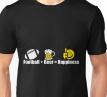 Football Beer Happiness Unisex T-Shirt