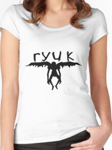 ryuk silhouette  Women's Fitted Scoop T-Shirt