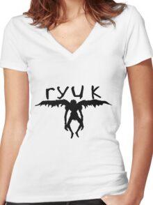 ryuk silhouette  Women's Fitted V-Neck T-Shirt