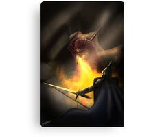 Into Flame Canvas Print