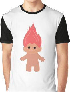 Pink Troll Graphic T-Shirt