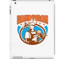 Handyman Cordless Drill Paint Roller Oval Retro iPad Case/Skin